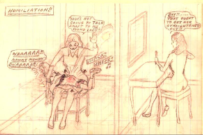art drawings Spanking