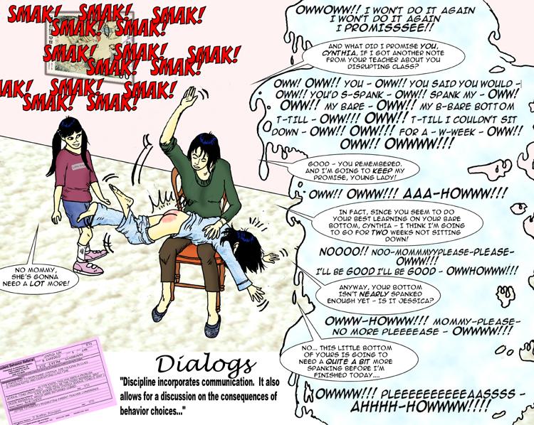 spanking by babysitter