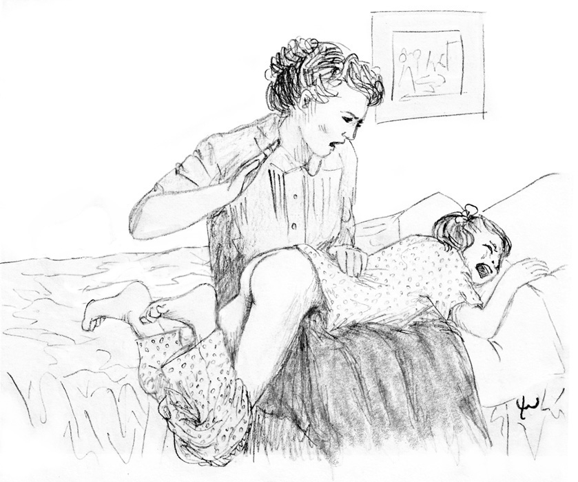 розгами дочку