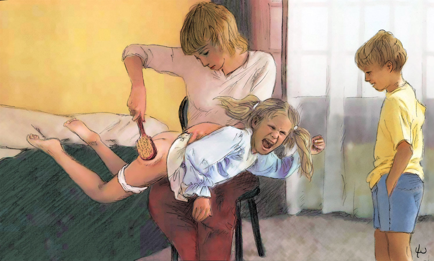 Lee Warner Spanking Art: http://xxgasm.com/lee-warner-spanking-art/