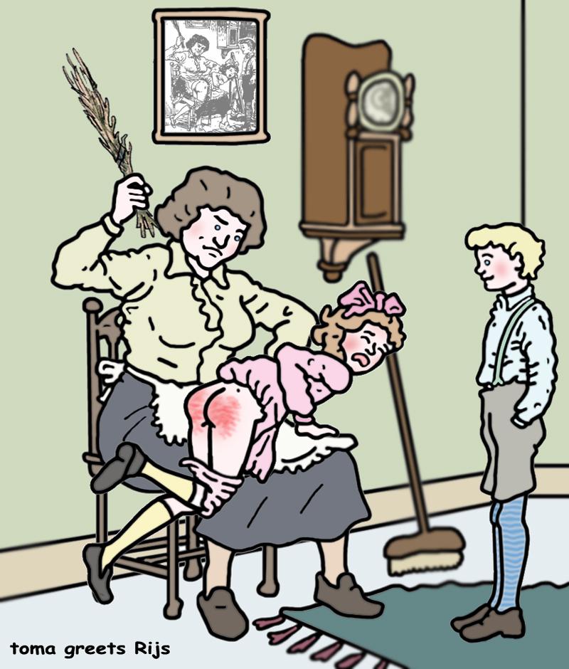 девушка постеле наказание жены карикатуры уже