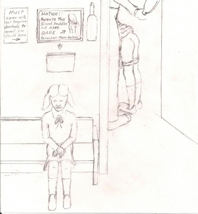 Рисунки о наказаниях девушек 44